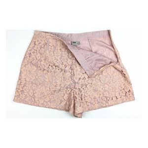 New Asos Dust Pink Lace High Rise Dressy Shorts